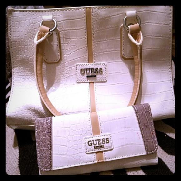 Guess handbag & matching wallet